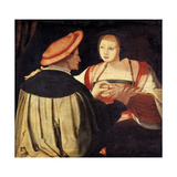 The Engagement Giclee Print by Lucas van Leyden
