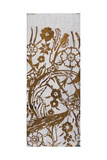 White Taffeta Fabric with Floral Decoration Printed in Gold, Detail, after 1910 Giclee Print by Mariano Fortuny