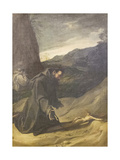 St Francis Adoring the Crucifix, C.1583-84 Giclee Print by Lodovico Carracci