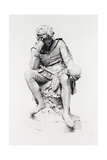 Hamlet, from the Statue by Lord Ronald Gower Giclee Print by Leopold Flameng