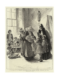A Visit to a Creche Managed by the Sisters of St Vincent De Paul Giclee Print by Mary L. Gow