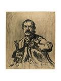 Self Portrait, 1908 Gicléetryck av Lovis Corinth