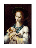 The Virgin and Child, C. 1567 Giclee Print by Luis De morales