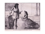 Lady Fenwick Interceding for Her Husband Ad 1696 Giclee Print by Mary L. Gow