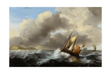 Fishing Vessels Offshore in a Heavy Sea, 1864 Giclee Print by Ludolf Backhuysen