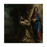 The Vision of Saint Francis of Assisi, 1585 Giclee Print by Lodovico Carracci