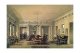 The Waiting Room of the Stagecoach Station in St. Petersburg, 1848 (W/C and Gouache on Paper) Giclee Print by Luigi Premazzi