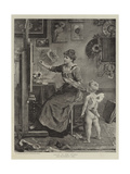Cupid in the Studio Giclee Print by Ludwig Knaus