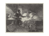 Michael Angelo Attending on His Sick Servant, Urbino Giclee Print by Louis Haghe