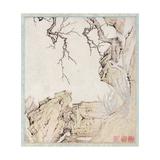 Narcissus, Plum Tree and Landscape Giclee Print by Lu Zhi
