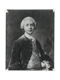 Portrait of Jean Baptiste Louis Gresset Giclee Print by Louis M. Tocque