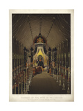 Funeral of the Duke of Wellington, the Lying in State in Chelsea Hospital, November 1852 Giclee Print by Louis Haghe