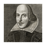 Portrait of William Shakespeare by Martin Droeshout, 1623 Giclee Print by Martin Droeshout  the Elder