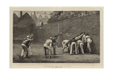 Football at the Wall at Eton Giclee Print by Leslie Matthew Ward