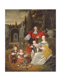 A Family Group on a Terrace, 1670 Giclee Print by Michiel Van Musscher