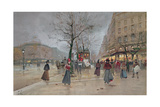 Evening in the Opera Quartier of the Grands Boulevards, Early 20th Century] Giclee Print by Luigi Loir