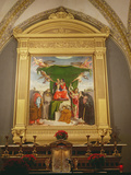 The Virgin and Child Enthroned with Saints, 1521 Photographic Print by Lorenzo Lotto