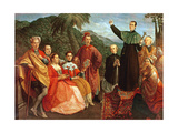 A Jesuit and His Family Giclee Print by Marco Benefial