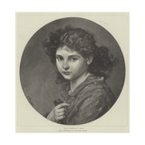 Nina Giclee Print by Ludwig Knaus