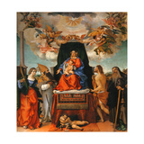 Madonna and Child with Saints, 1521 Giclee Print by Lorenzo Lotto