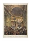 Funeral of the Duke of Wellington, the Ceremony in St Paul's Cathedral, 18 November 1852 Giclee Print by Louis Haghe