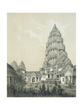 Central Tower and Superior Court of Angkor Wat, 1873 Giclee Print by Louis Delaporte