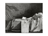 Jean-Paul Marat (1743-1793), Death of Marat Giclee Print by Leopold Flameng