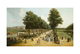 View of the Mall in St James's Park, 1709-10 Giclée-tryk af Marco Ricci