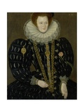 Portrait of Lady Elizabeth Knightley, 1591 Giclee Print by Marcus Gheeraerts The Younger