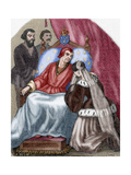 Death of Louis XI of France (1423-1483) Giclee Print by Louis Dupre
