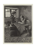 Lace-Making in an Irish Cottage Giclee Print by Marianne Stokes