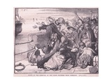Scene of the Removal of the Irish Soldiers from Limerick Giclee Print by Mary L. Gow