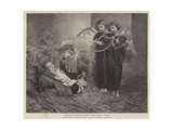 Angels Entertaining the Holy Child Giclee Print by Marianne Stokes