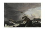 The Battle of Terheide, C.1695 Giclee Print by Ludolf Backhuysen