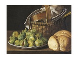 Still Life with Figs, 1760-1770 Giclee Print by Luis Melendez