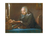 Abbe Jean-Jacques Huber, 1742 Giclee Print by Maurice Quentin de La Tour