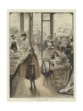 Afternoon Tea in Regent Street Giclee Print by Mary L. Gow