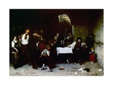 The Last Day of a Condemned Man in Hungary, 1870 Giclee Print by Mihaly Munkacsy