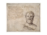 Antique Bust of Sophocles, Annotated, after Fulvio Orsini Giclee Print by Maerten van Heemskerck