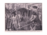 The People of Edinburgh Escorting the Duke of Hamilton to Holyrood Palace Ad 1706 Giclee Print by Mary L. Gow