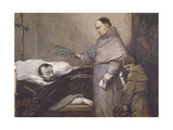 Martin Rithone Blessing the Body of the Count of Egmont Giclee Print by Louis Gallait