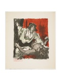 Judith and Holofernes, from Das Buch Judith (The Book of Judith), 1910 Gicleetryck av Lovis Corinth