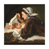 Mother and Child, 1833 Giclee Print by Peter Fendi