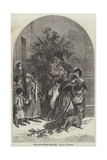 The Mistletoe Seller Giclee Print by Myles Birket Foster