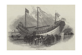 The Chinese Junk Keying Giclee Print by Myles Birket Foster