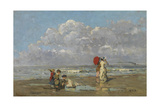 On the Beach Giclee Print by Pericles Pantazis