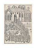 Christ Greeting a Pilgrim, C.1491 Giclee Print by Michael Wolgemut