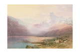 Mount Cook and Lake Pukaki, South Island, New Zealand, 1872 Giclee Print by Nicholas Chevalier