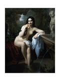 Nymph at the Bath Giclee Print by Natale Schiavoni