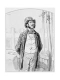 Inspecteur Privé Des Travaux Publics, Plate 13 from Les Toquades, 1858 Giclee Print by Paul Gavarni